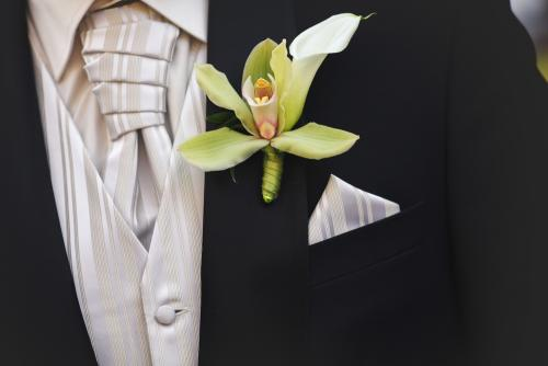 Original boutonniere as a jacket's decor